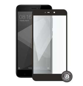 Screenshield XIAOMI RedMi 4X Global Tempered Glass protection (full COVER black)