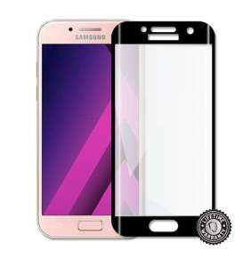 Screenshield™ Temperované sklo SAMSUNG A320 Galaxy A3 (2017) (full COVER BLACK metalic frame)