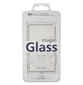 Aligator ochrana displeje Carbon Fiber Glass pro Huawei Nova, bílá