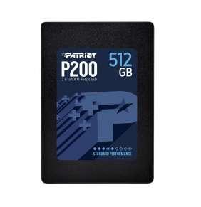 Patriot SSD 512GB P200 2.5'' SATA III 6Gb/s, R/W 530/460 MB/s