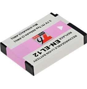 Baterie T6 power Nikon EN-EL12, 980mAh, černá