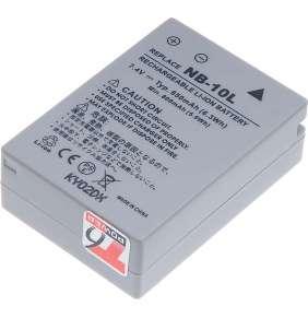 Baterie T6 power Canon NB-10L, 850mAh, šedá