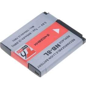 Baterie T6 power Canon NB-8L, 700mAh, černá
