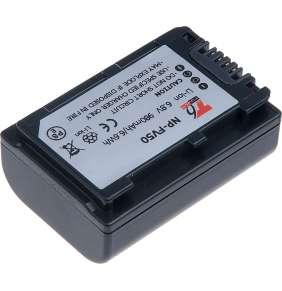 Baterie T6 power Sony NP-FV50, 980mAh, šedá