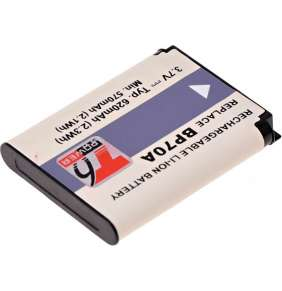 Baterie T6 power Samsung BP-70A, BP70A, SLB-70A, 700mAh, 2,6Wh, černá