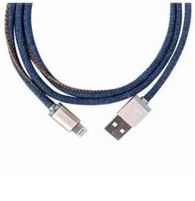 PlusUs kábel LifeStar Premium Lightning to USB 1m - Denim Blues