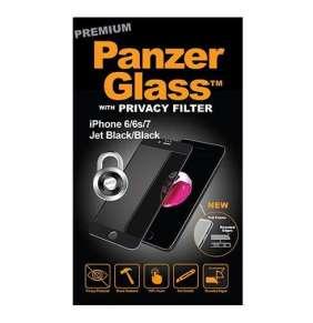 PanzerGlass ochranné sklo Premium Privacy pre iPhone 8/7/6/6s - Black frame