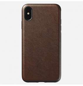 Nomad kryt Rugged Case pre iPhone XS Max - Rustic Brown Leather