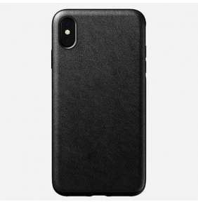 Nomad kryt Rugged Case pre iPhone XS Max - Black Leather