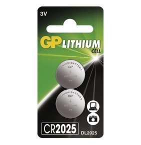 GP CR2025 Lithiová knoflíková baterie (2ks)