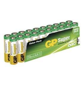 GP alkalická baterie 1,5V AA Super (LR6) 20ks fólie