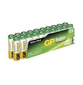 GP alkalická baterie 1,5V AAA Super (LR03) 20ks fólie