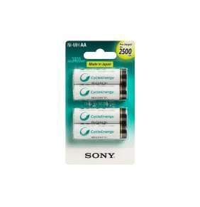 Sony NiMH AA nabíjecí baterie 2500mAh- 4ks
