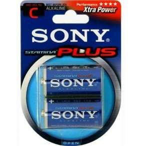 SONY Alkalické baterie AM2B2D, 2 ks LR14/C, Stamina Plus