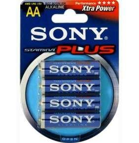 SONY Alkalické baterie AM3B4D, 4 ks LR6/AA, Stamina Plus