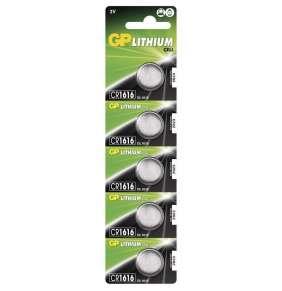 Lithiová baterie GP CR1616 - 5ks