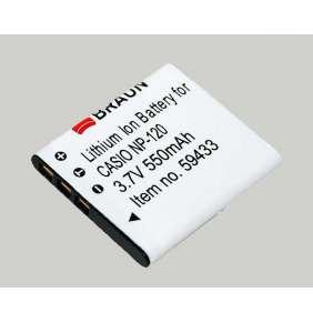 Braun akumulátor CASIO NP-120, 550mAh