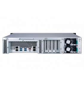 QNAP NAS TS-1277XU-RP-2600-8G AMD Ryzen™ 5 2600 6-core/12-thread 3.4 GHz processor, Turbo Core 3.9 GHz 8 GB (2 x 4 GB) DDR4 UDIM