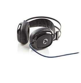 Nedis GHST300BK - Herní Sluchátka | Over-ear | Ultra Basy | Světlo LED | Konektory 3,5 mm USB