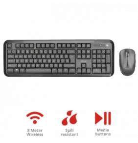 TRUST Nova Wireless Keyboard and mouse CZ /SK