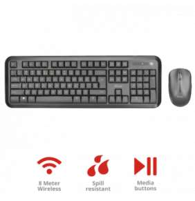 TRUST Set klávesnice + myš Nova Wireless Keyboard and mouse CZ/SK