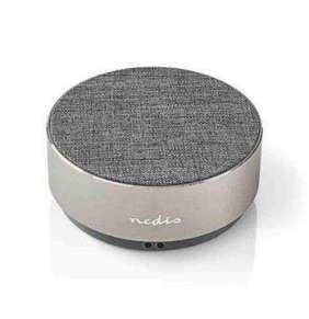 Nedis SPBT1001GY - Bluetooth® Reproduktor   9 W   Kovový Design   Kovově Šedá
