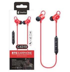 Aligator Bluetooth HF sluchátka do uší PLUS, s mikrofonem a tlačítkem C4319 sport, červená