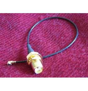 Pigtail u.Fl (IPEX)-SMA female pigtail kabel, 15cm