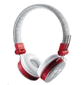TRUST Sluchátka Fyber Headphone - grey/red