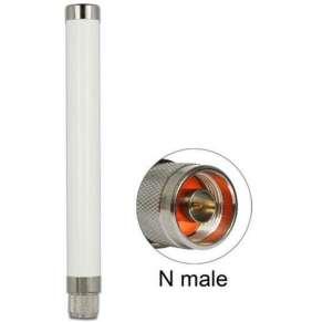 Delock LoRa 868 MHz anténa N samec 1,89 dBi všesměrová pevná venkovní bílá