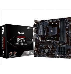 MSI MB Sc AM4 B450M PRO-VDH PLUS, AMD B450, VGA, 4xDDR4, m-ATX