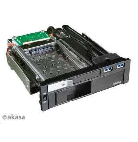 "AKASA HDD box Lokstor M51 / AK-IEN-01 / pro 2,5"" a 3,5"" SATA HDD disky / 2xUSB 3.0"