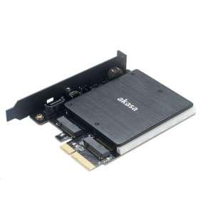 AKASA RGB adaptér M.2 SSD do PCIe x4 / AK-PCCM2P-03 / podporovaná velikost SSD 2230, 2242, 2260, 2280 a 22110