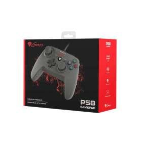 Drátový gamepad Genesis P58, pro PS3/PC, vibrace
