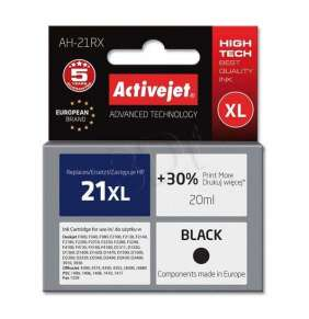 Atrament ActiveJet pre HP C9351 no.21 XL Black 20ml ref./HP 21 XL 12ml/