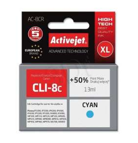 Náplň ActiveJet  Canon CLI-8  cyan 15ml  + chip