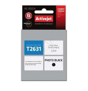 Atrament ActiveJet pre Epson T2631 Black XP-600, XP-800 AE-2631N