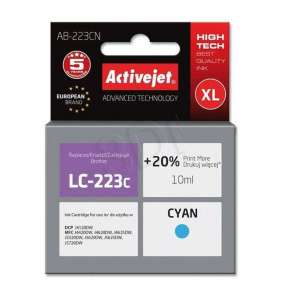 Atrament ActiveJet pre Brother LC223C AB-223CN Cyan 10 ml