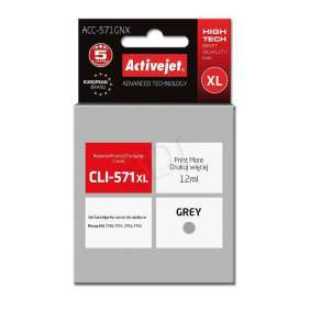 ActiveJet ink for Canon CLI-571G XL  ACC-571GNX Gray 12 ml Compatible