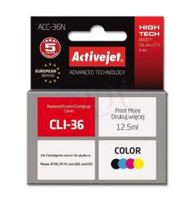ActiveJet ink for Canon CLI-36  ACC-36N Fourcolor 12,5 ml Compatible