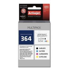 ActiveJet ink pre HP 364 SD536EE AH-M364RPremium  1 x 10 ml, 3 x 5 ml  Black, Cyan, Magenta, Yellow