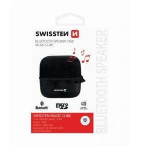 Swissten Bluetooth Reproduktor Music Cube Černý