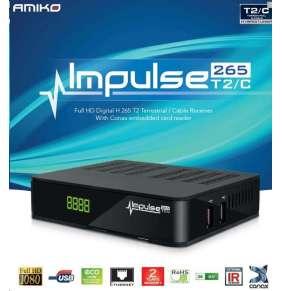 AMIKO Terestriálny / Káblový prijímač DVB-T/T2/C Amiko Impulse H265