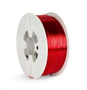 VERBATIM 3D Printer Filament PET-G 1.75mm ,327m, 1000g red transparent