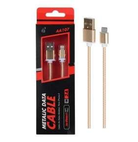 PLUS datový a nabíjecí kabel AA107, konektor Lightning, 1 m, zlatá