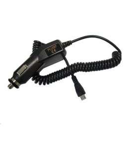 Solight USB nabíjecí autoadaptér, integrovaný kabel micro USB, 1500mA, DC 12-24V, černý