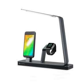 4smarts nabíjecí stanice s LED lampou LoomiDock pro produkty Apple, 2,4 A