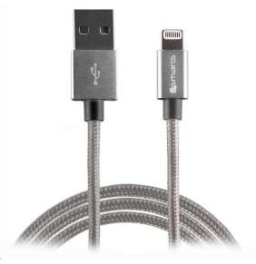 4smarts datový kabel RAPIDCord, Lightning Mfi, délka 2 m, šedá