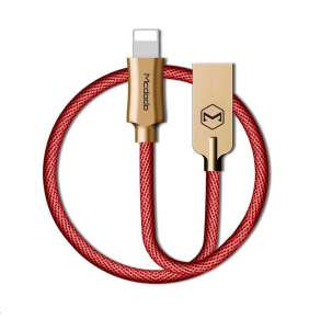 Mcdodo Knight Series USB AM To Lightning Data Cable (1.8 m) Red