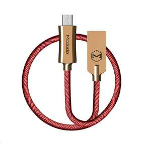 Mcdodo Knight Series USB AM To Micro USB Data Cable (1.5 m) Red